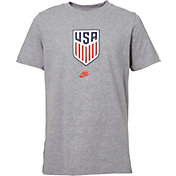Nike Youth USA Soccer Crest Gray T-Shirt