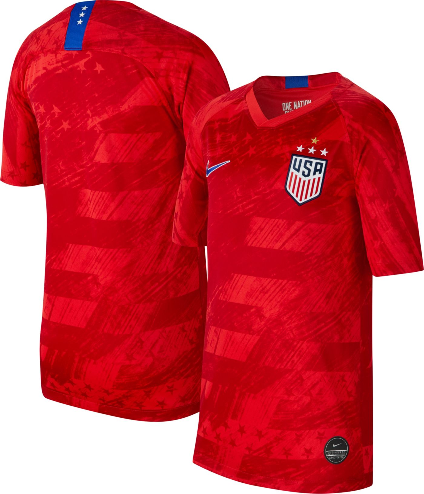 Nike Youth 2019 FIFA Women's World Cup USA Soccer 4-Star Breathe Stadium Away Replica Jersey