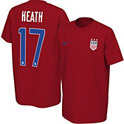 Nike Youth USA Soccer Tobin Heath #17 Red Player T-Shirt
