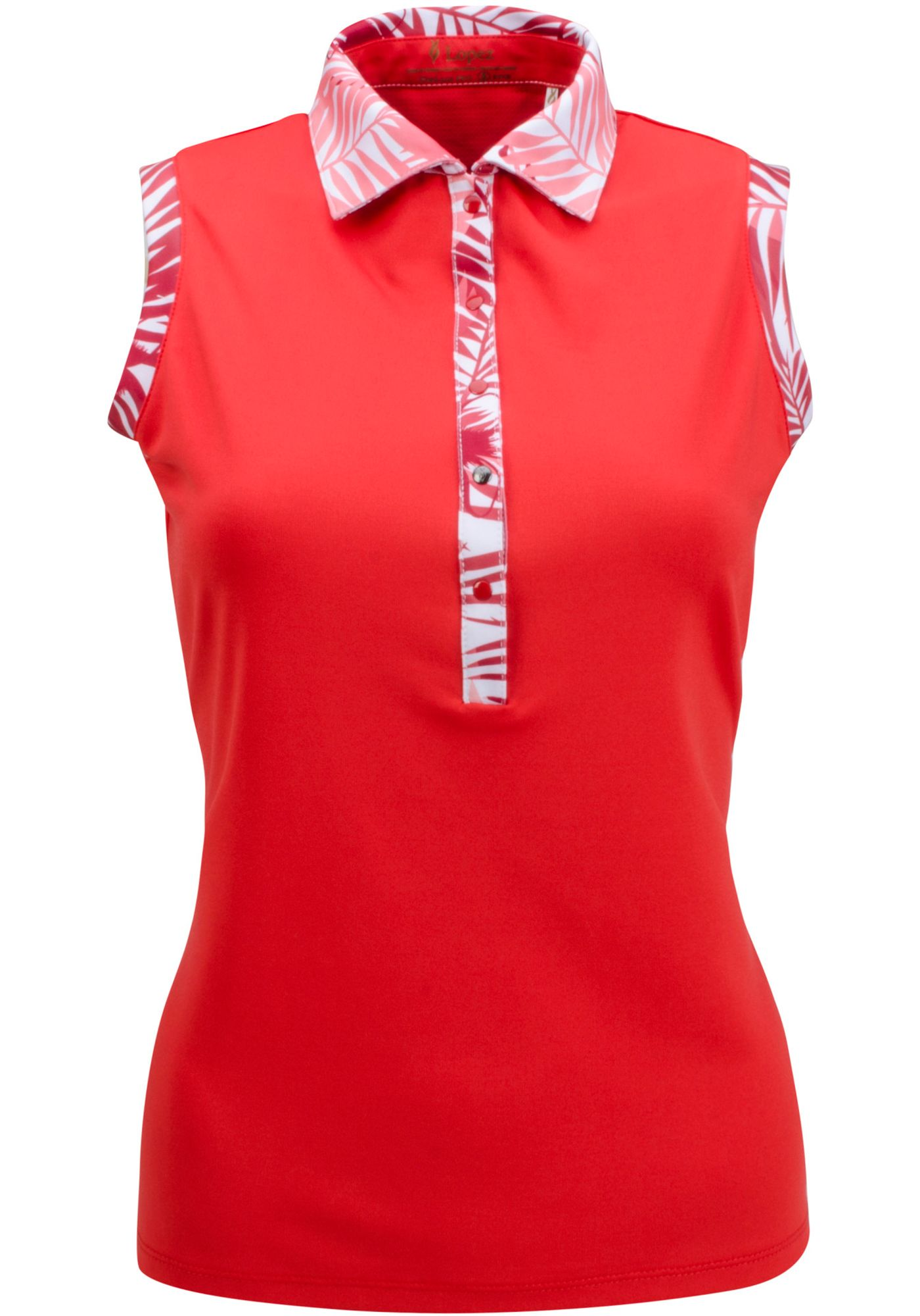 Nancy Lopez Women's Escapade Sleeveless Golf Polo - Extended Sizes