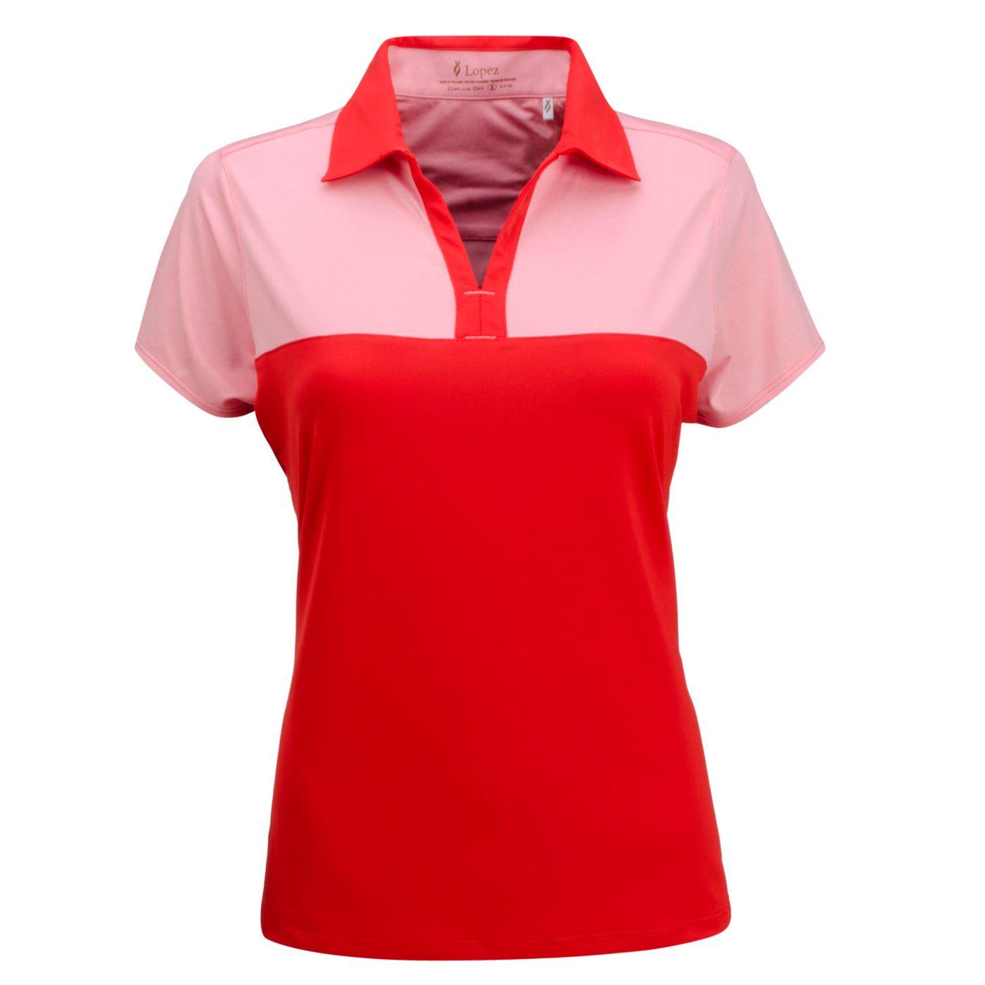 Nancy Lopez Women's Pursuit Short Sleeve Golf Polo - Extended Sizes