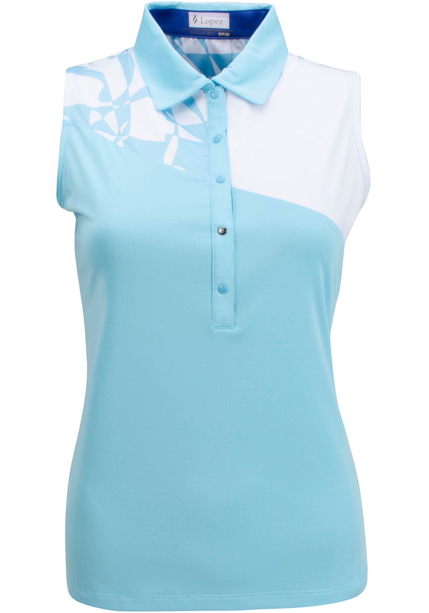 Nancy Lopez Women's Splice Sleeveless Golf Polo - Extended Sizes