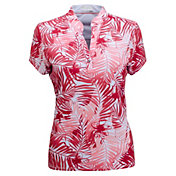 Nancy Lopez Women's Tropic Short Sleeve Golf Polo - Extended Sizes