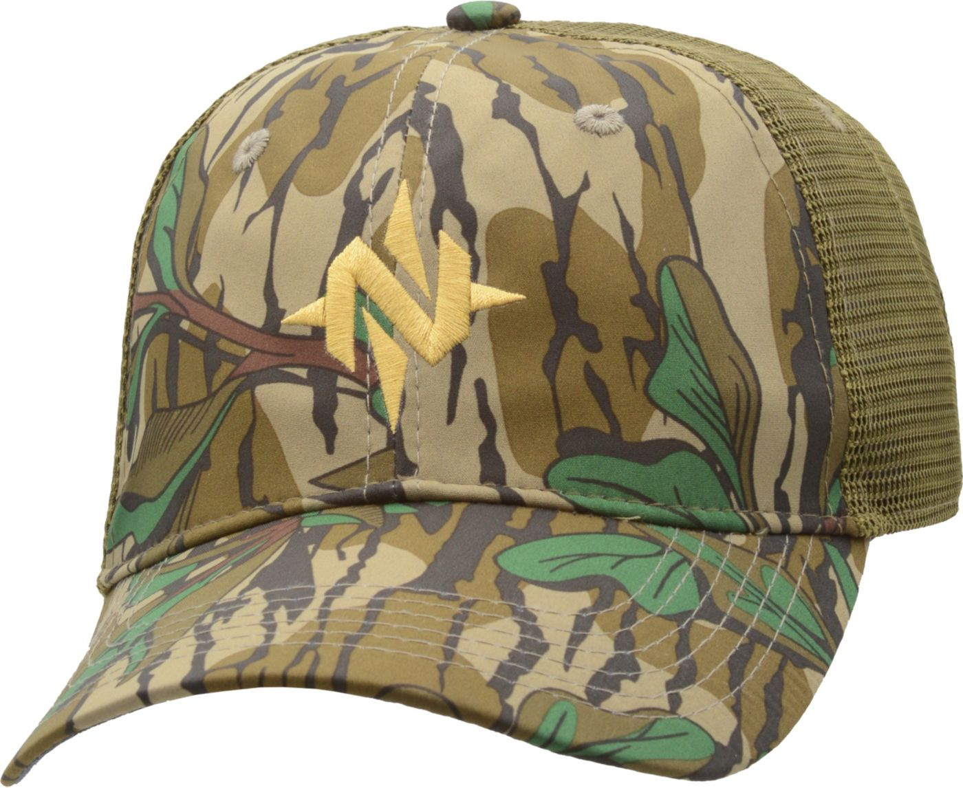 NOMAD Men's Camo Low Country Trucker Hat