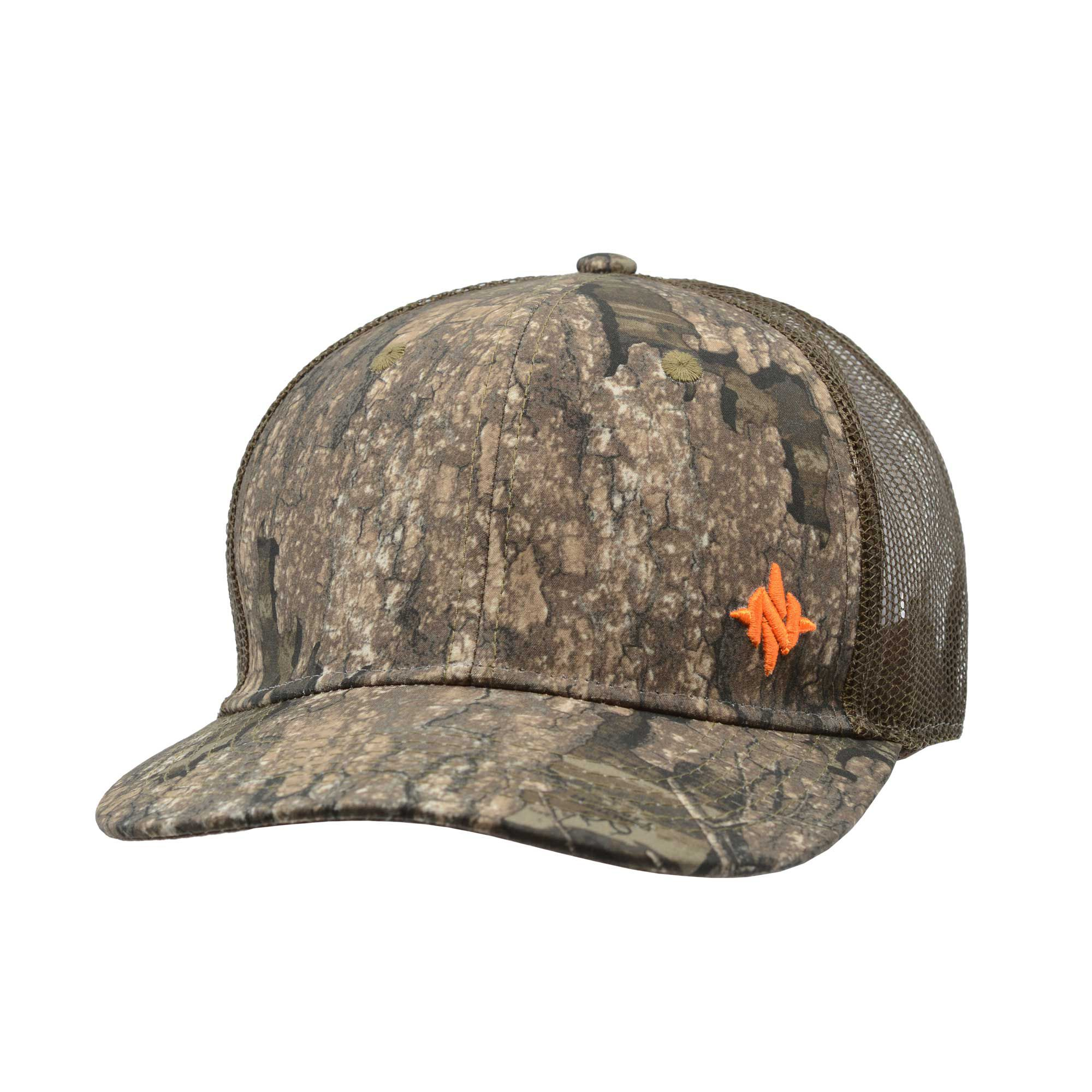 NOMAD Men's Mark Flatbill Trucker Hat, Size: One size, Timber Realtree/AP thumbnail