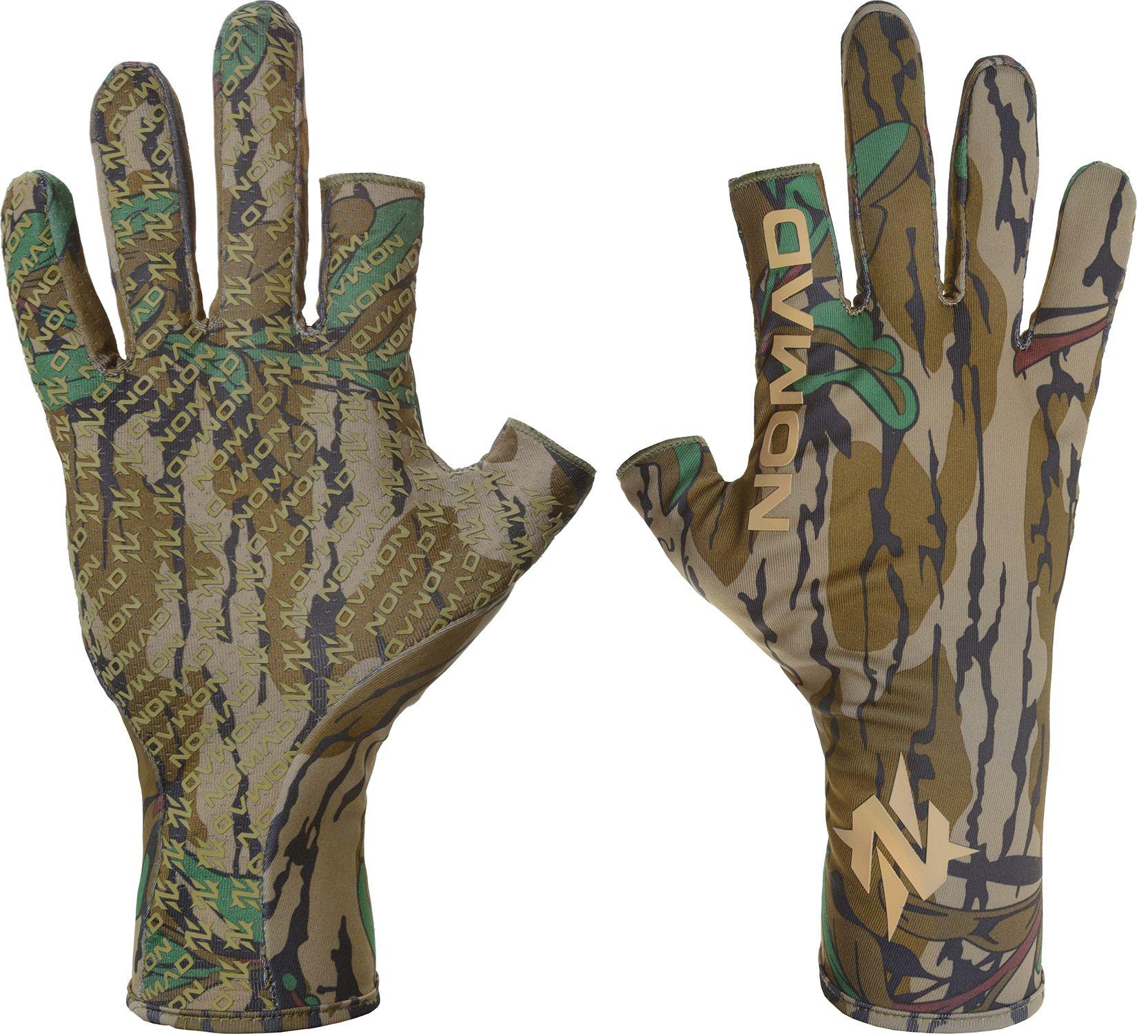 NOMAD Men's Fingerless Turkey Gloves, Size: ML, Mossy Oak Greenleaf thumbnail
