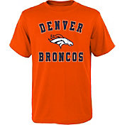 NFL Team Apparel Boys' Denver Broncos Bevel Orange T-Shirt