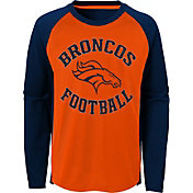 NFL Team Apparel Youth Denver Broncos Air Raid Long Sleeve Orange Shirt