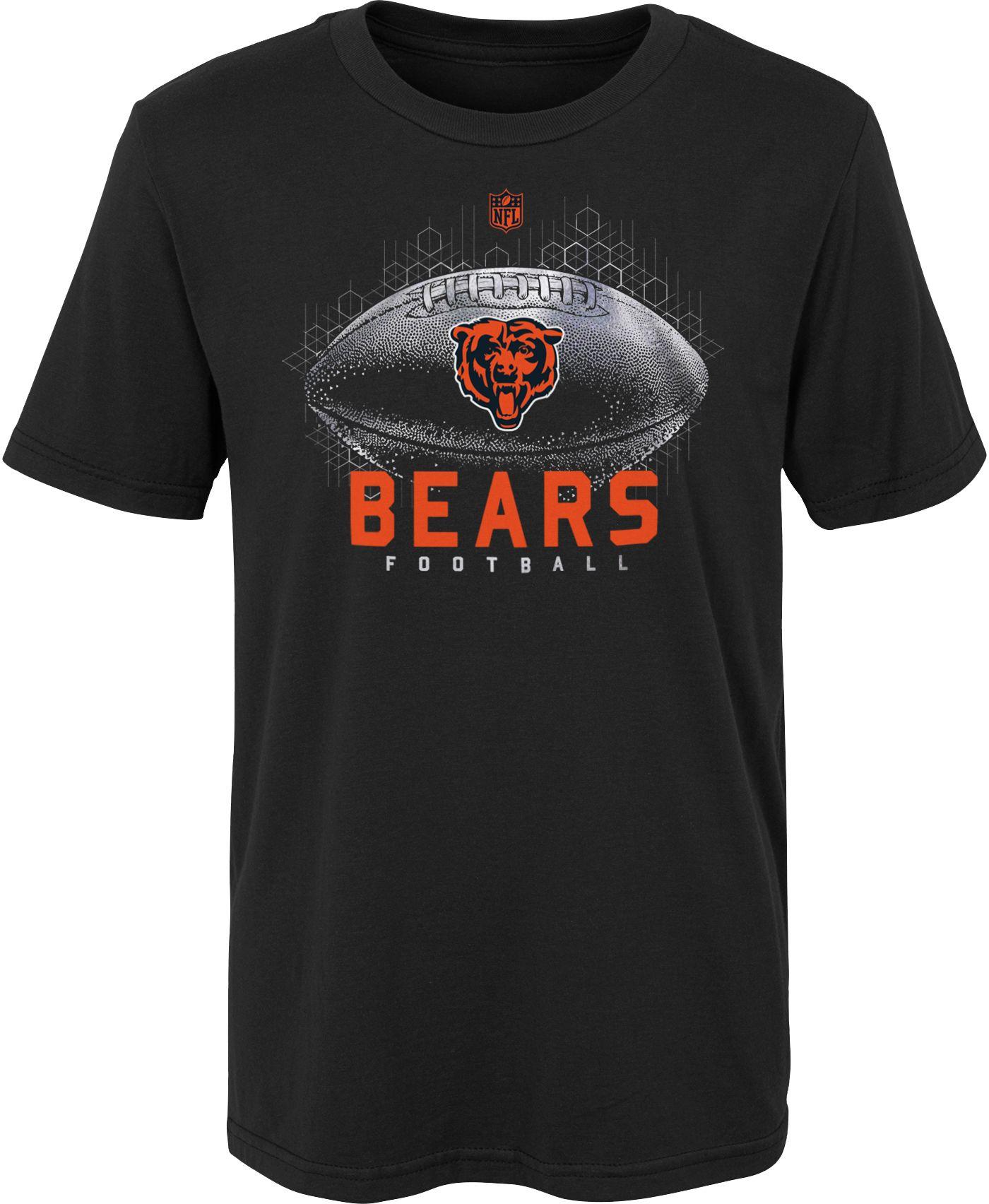 NFL Team Apparel Boys' Chicago Bears Hexagon Black T-Shirt