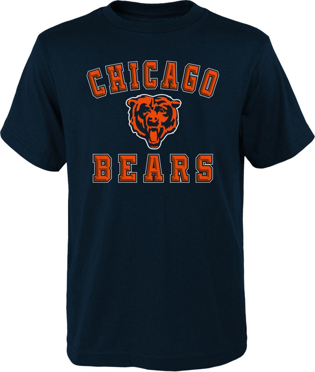 timeless design 20c42 0cb17 NFL Team Apparel Boys' Chicago Bears Bevel Navy T-Shirt