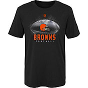 NFL Team Apparel Boys' Cleveland Browns Hexagon Black T-Shirt