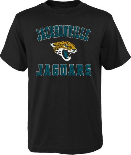 427e4b18 NFL Team Apparel Boys' Jacksonville Jaguars Bevel Black T-Shirt
