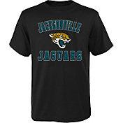 NFL Team Apparel Boys' Jacksonville Jaguars Bevel Black T-Shirt