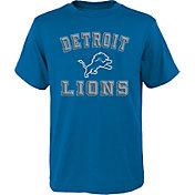 NFL Team Apparel Boys' Detroit Lions Bevel Blue T-Shirt