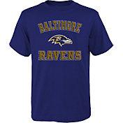 NFL Team Apparel Boys' Baltimore Ravens Bevel Black T-Shirt
