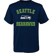 NFL Team Apparel Boys' Seattle Seahawks Bevel Navy T-Shirt