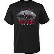 NFL Team Apparel Boys' Houston Texans Hexagon Black T-Shirt