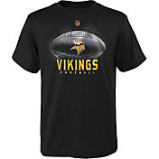 NFL Team Apparel Boys' Minnesota Vikings Hexagon Black T-Shirt