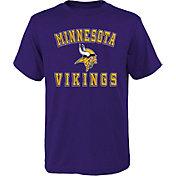 NFL Team Apparel Boys' Minnesota Vikings Bevel Purple T-Shirt