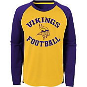 NFL Team Apparel Youth Minnesota Vikings Air Raid Long Sleeve Purple Shirt