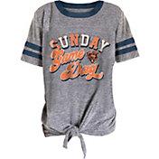 NFL Team Apparel Girls' Chicago Bears Tie Grey T-Shirt