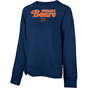 NFL Team Apparel Girls' Chicago Bears Tie Navy Fleece Crew