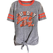 NFL Team Apparel Girls' Cleveland Browns Tie Grey T-Shirt