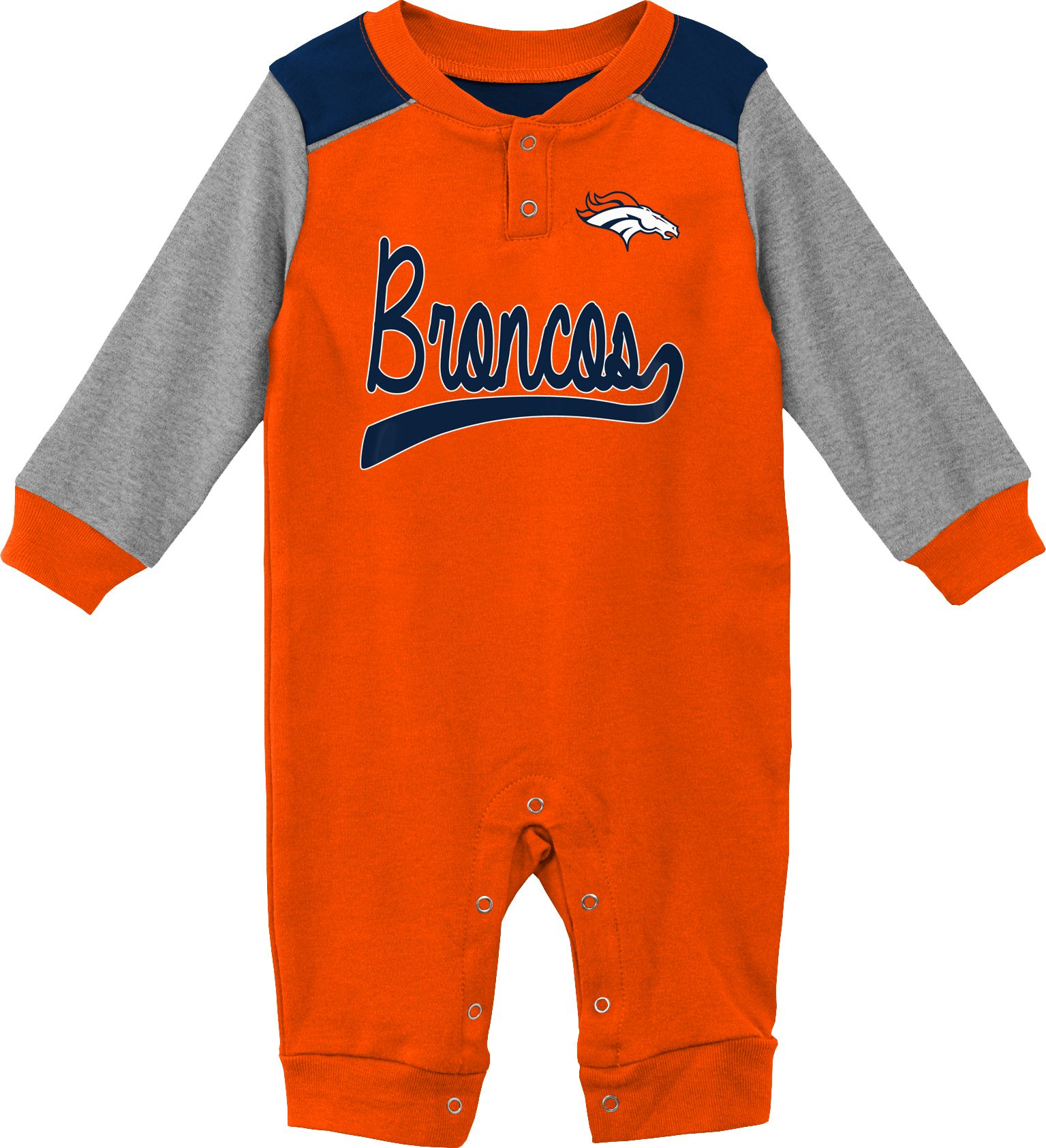 cheap for discount 6bcc1 a9c8d NFL Team Apparel Infant Denver Broncos Orange Coverall