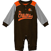NFL Team Apparel Infant Cleveland Browns Brown Coverall
