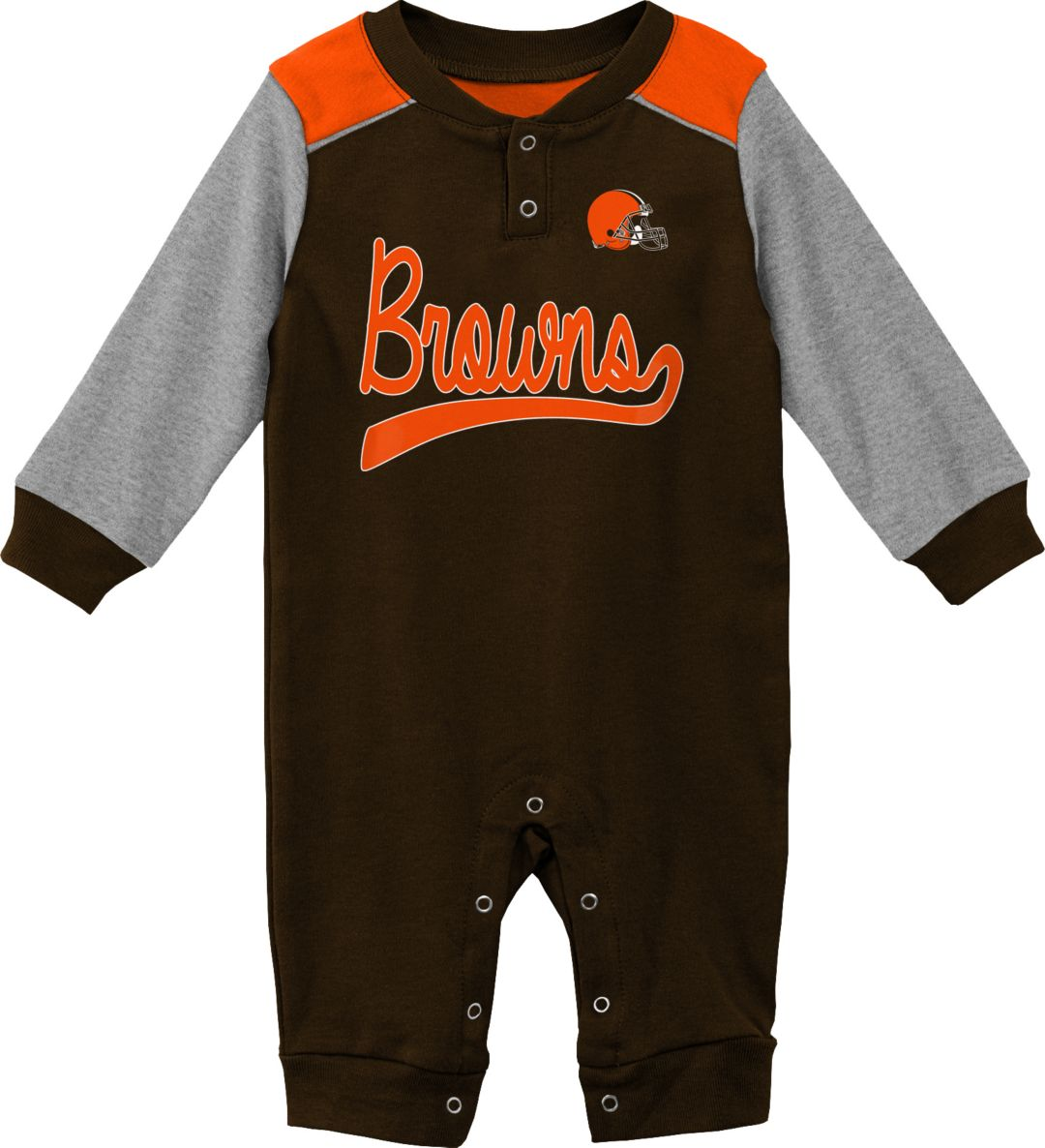 40d45f27 NFL Team Apparel Infant Cleveland Browns Brown Coverall