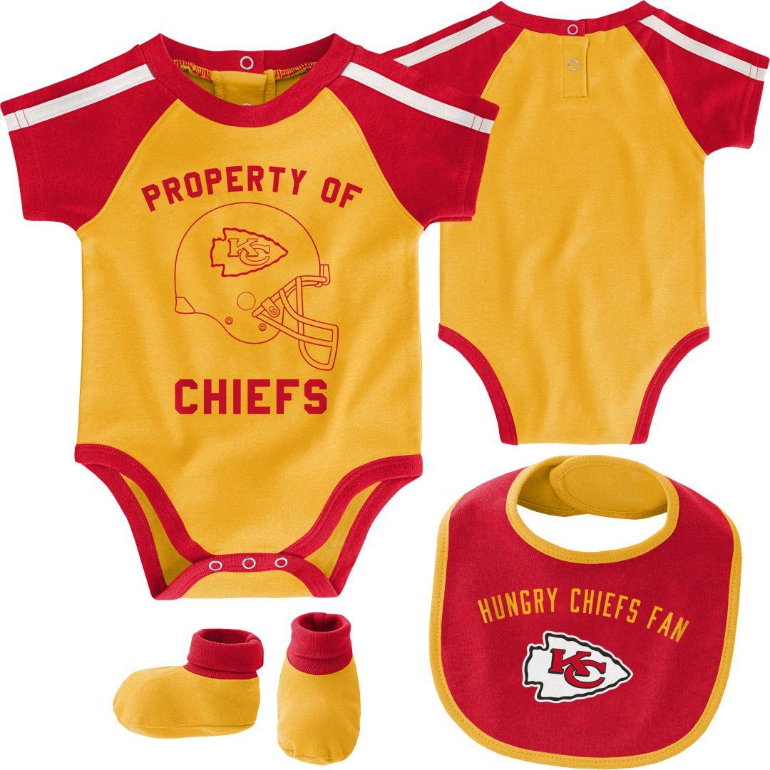 sports shoes 9ebaf 8a2bf NFL Team Apparel Infant Kansas City Chiefs Bib/Booties Set