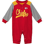 NFL Team Apparel Infant Kansas City Chiefs Red Coverall