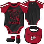 NFL Team Apparel Infant Atlanta Falcons Bib/Booties Set