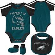 NFL Team Apparel Infant Philadelphia Eagles Bib/Booties Set