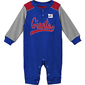 NFL Team Apparel Infant New York Giants Navy Coverall
