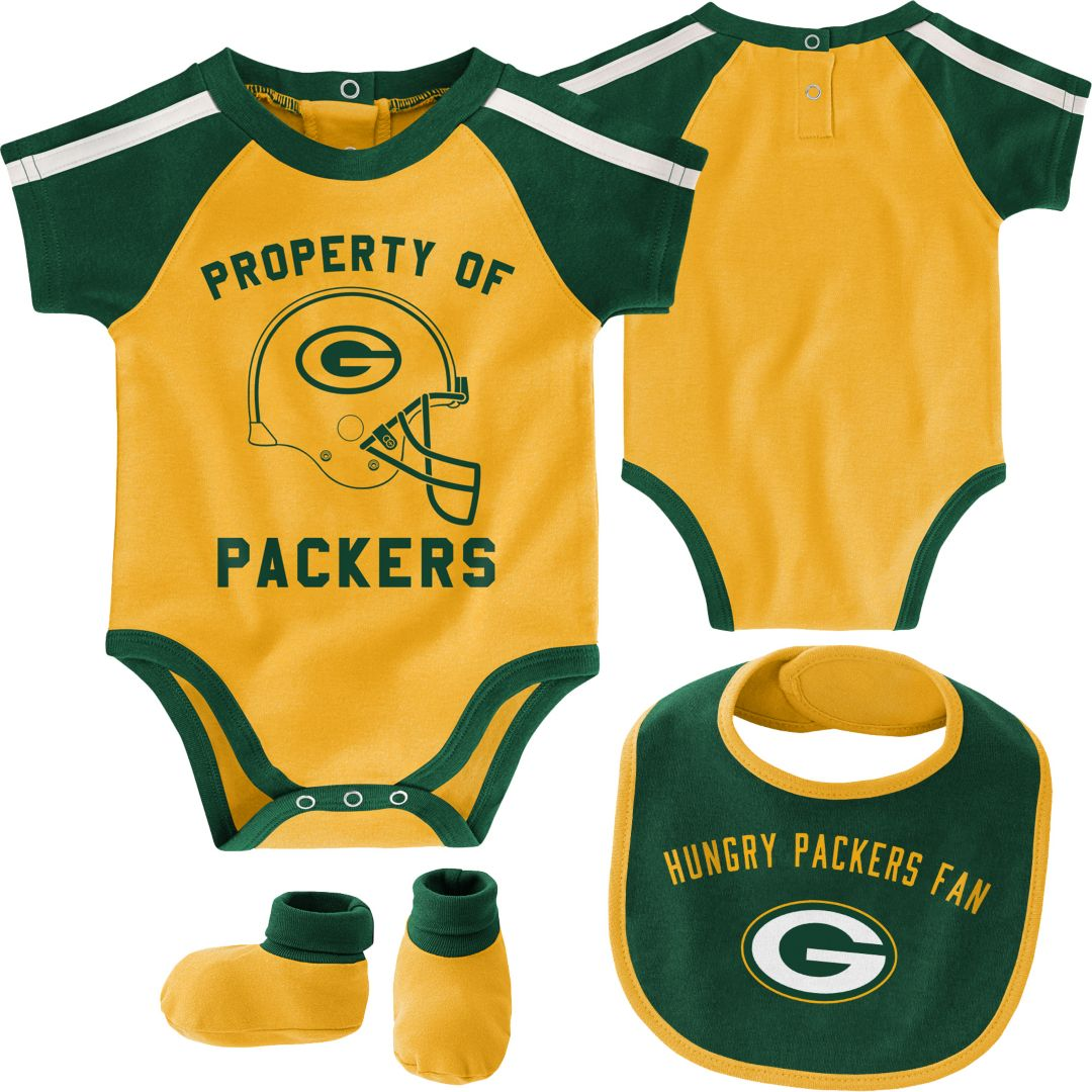 purchase cheap 9a7c1 facf1 NFL Team Apparel Infant Green Bay Packers Bib/Booties Set
