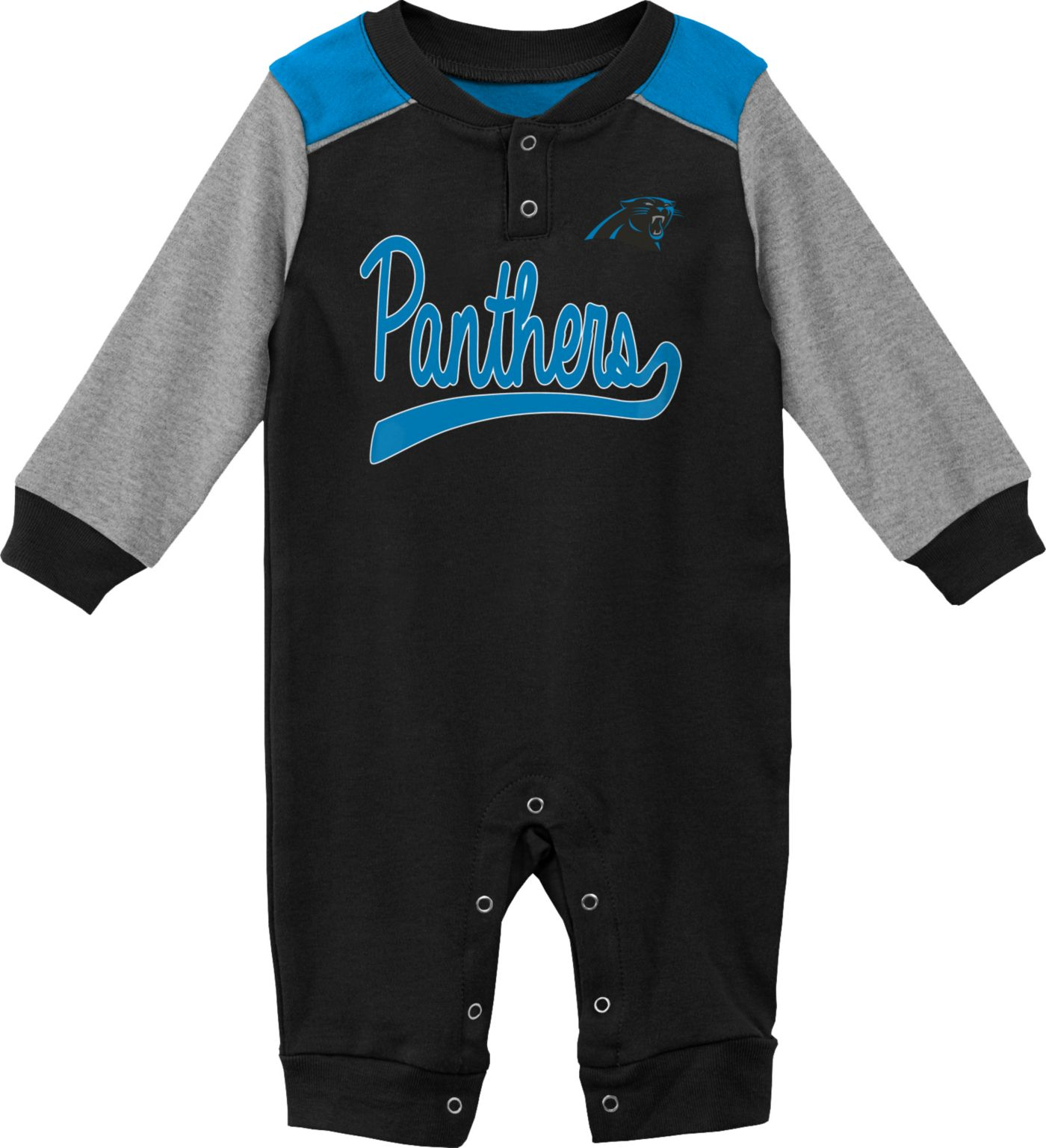 NFL Team Apparel Infant Carolina Panthers Black Coverall