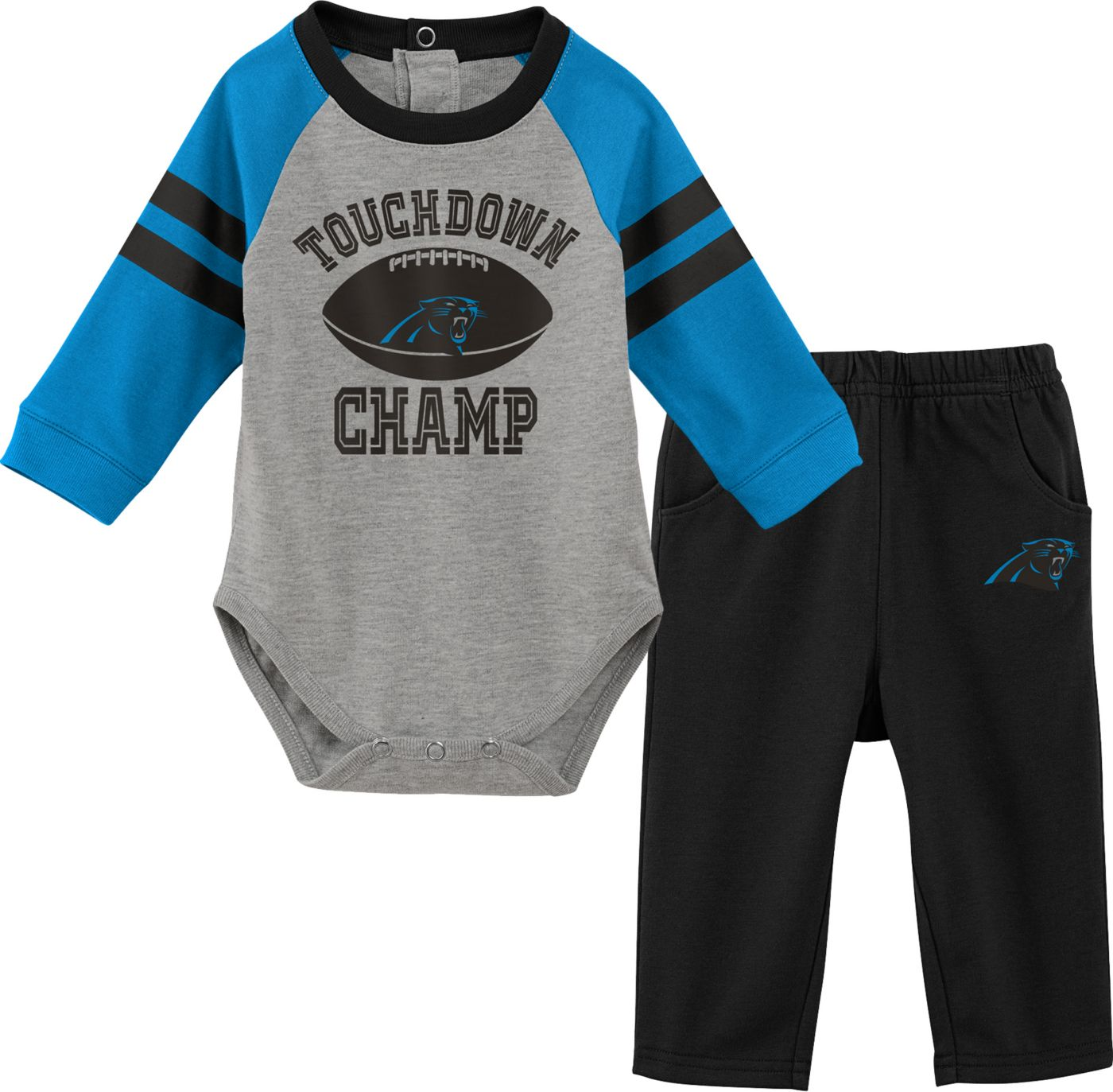 NFL Team Apparel Infant Carolina Panthers Touchdown Pant Set