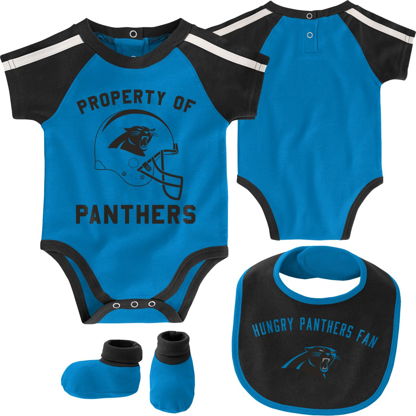 NFL Team Apparel Infant Carolina Panthers Bib/Booties Set