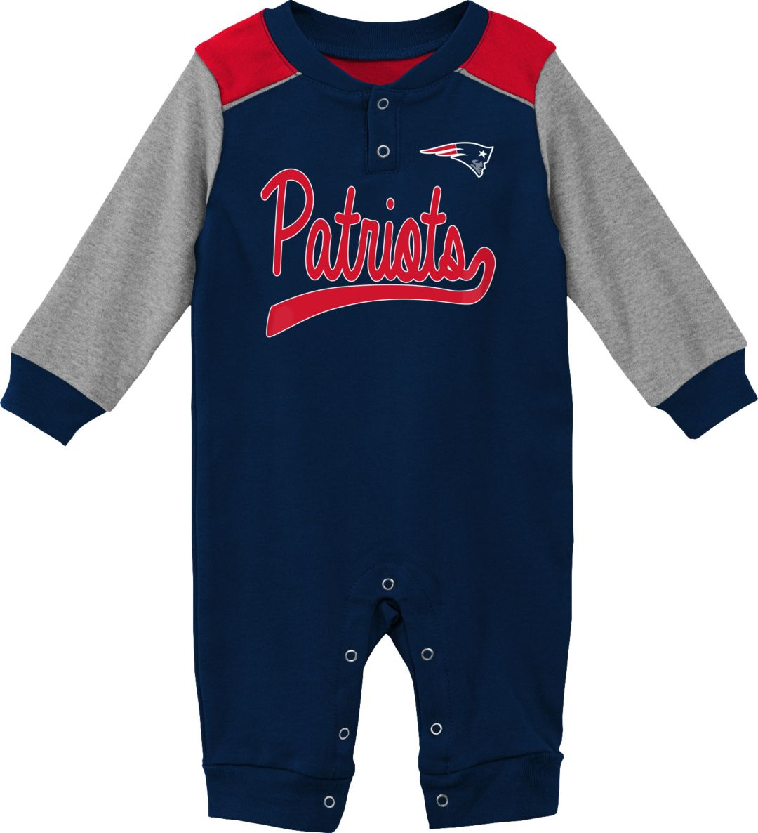 best service 80882 38f20 NFL Team Apparel Infant New England Patriots Navy Coverall