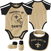 NFL Team Apparel Infant New Orleans Saints Bib/Booties Set