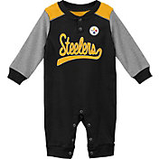 NFL Team Apparel Infant Pittsburgh Steelers Black Coverall