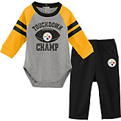 NFL Team Apparel Infant Pittsburgh Steelers Touchdown Pant Set