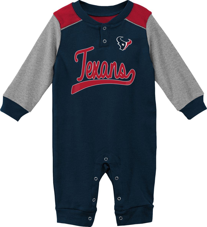 2dda6dd9 NFL Team Apparel Infant Houston Texans Navy Coverall