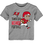 NFL Team Apparel Toddler Tampa Bay Buccaneers Lil Player Grey T-Shirt