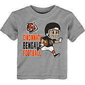 NFL Team Apparel Toddler Cincinnati Bengals Lil Player Grey T-Shirt