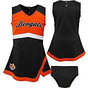 NFL Team Apparel Toddler Cincinnati Bengals Cheer Jumper Dress