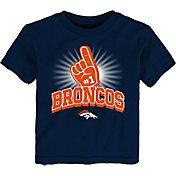 NFL Team Apparel Toddler Denver Broncos #1 Fan T-Shirt