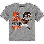 NFL Team Apparel Toddler Cleveland Browns Lil Player Grey T-Shirt
