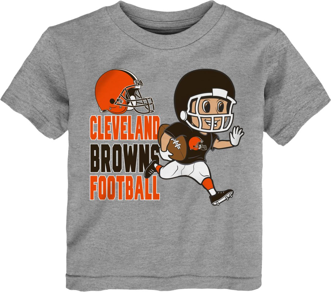 big sale d475d 1c708 NFL Team Apparel Toddler Cleveland Browns Lil Player Grey T-Shirt